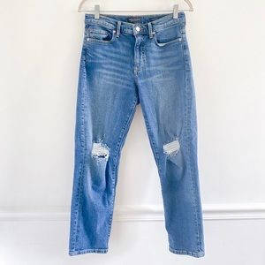 Banana Republic Midrise Straight Distressed Jeans